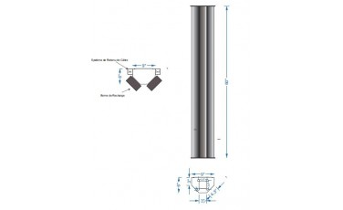 Piédestal en Aluminium